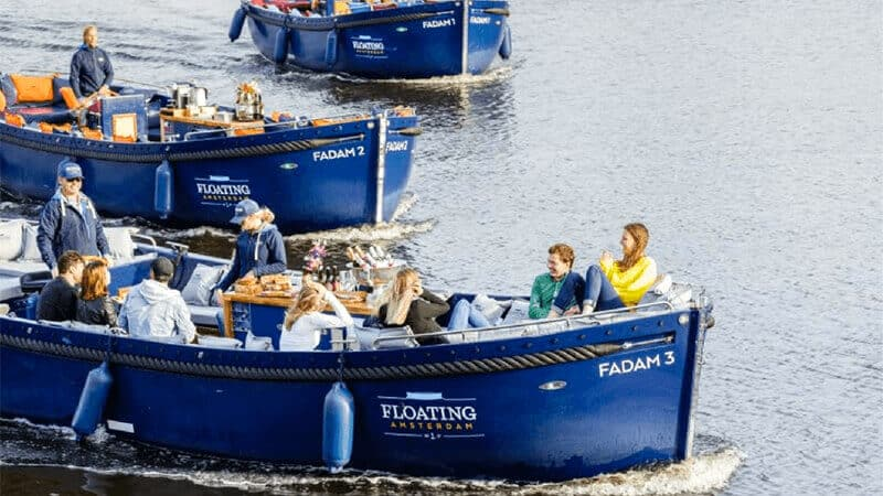 Luxury canal cruise boats