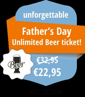 Vaderdag ticket met onbeperkt bier!