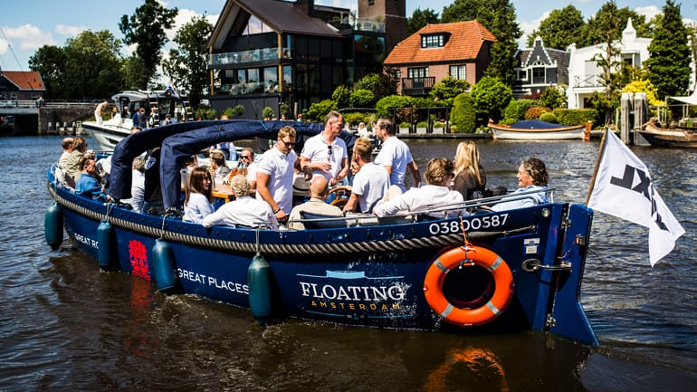 Private canal cruise Amsterdam